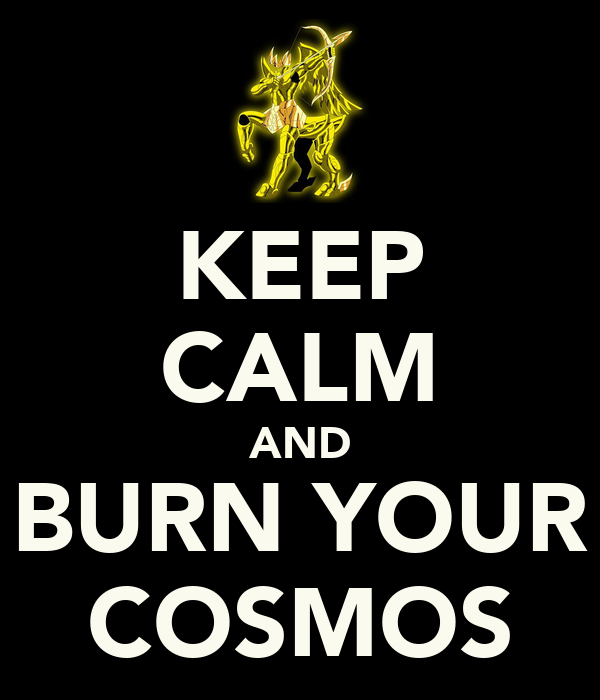 KEEP CALM AND BURN YOUR COSMOS