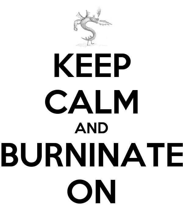 KEEP CALM AND BURNINATE ON