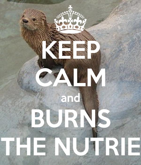 KEEP CALM and BURNS THE NUTRIE