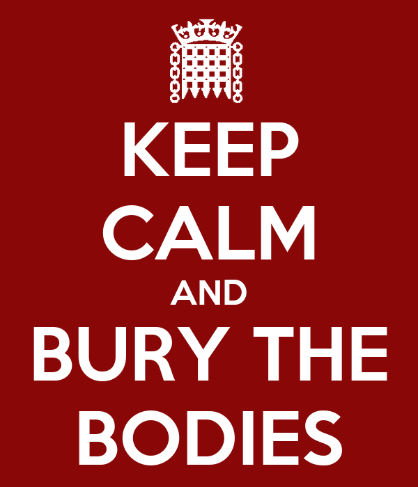 KEEP CALM AND BURY THE BODIES