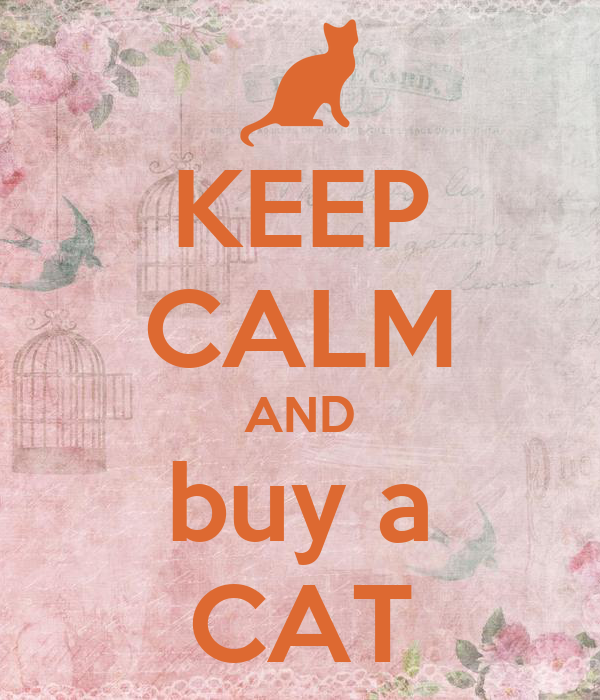 KEEP CALM AND buy a CAT