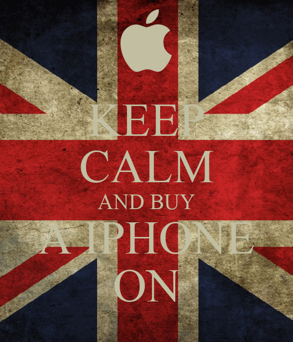 KEEP CALM AND BUY A IPHONE ON