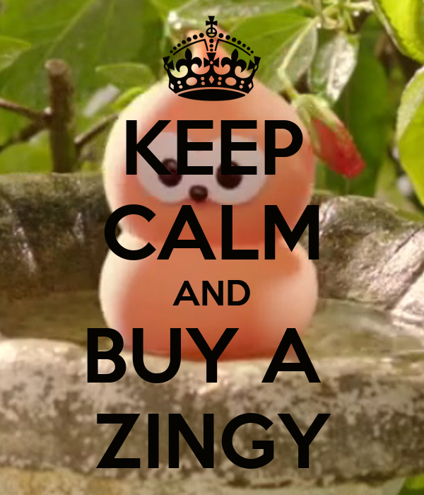 KEEP CALM AND BUY A  ZINGY