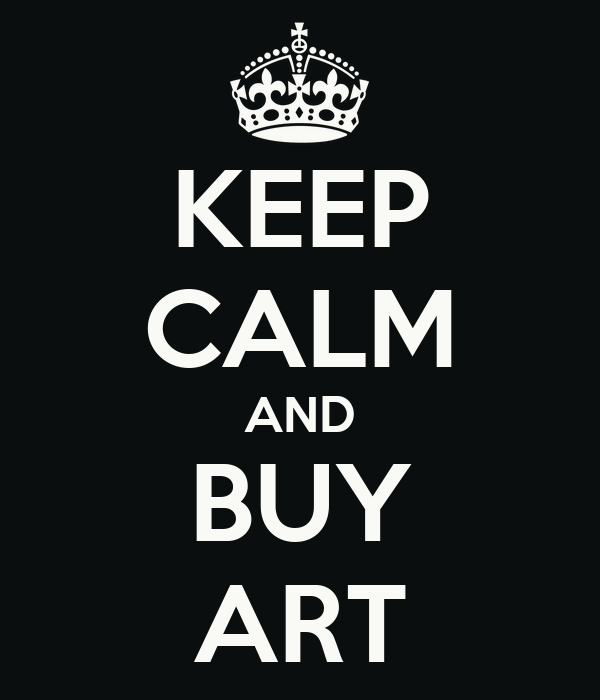 KEEP CALM AND BUY ART