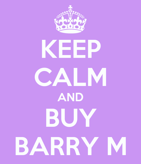 KEEP CALM AND BUY BARRY M