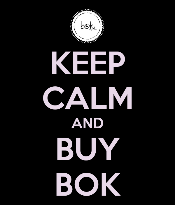 KEEP CALM AND BUY BOK