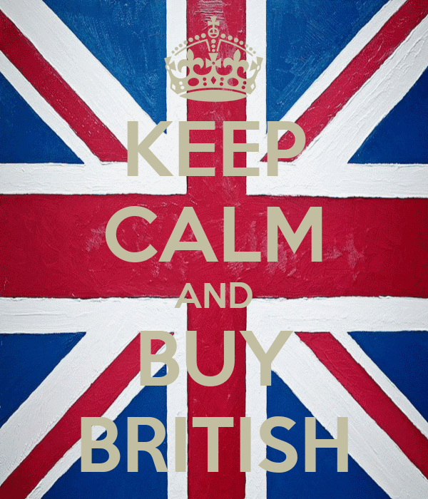 KEEP CALM AND BUY BRITISH