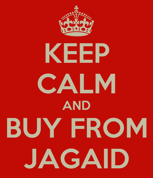 KEEP CALM AND BUY FROM JAGAID