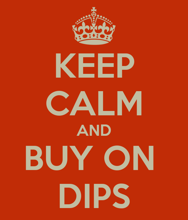 KEEP CALM AND BUY ON  DIPS