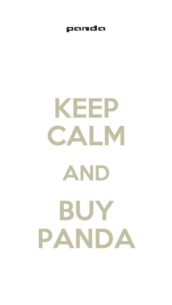KEEP CALM AND BUY PANDA
