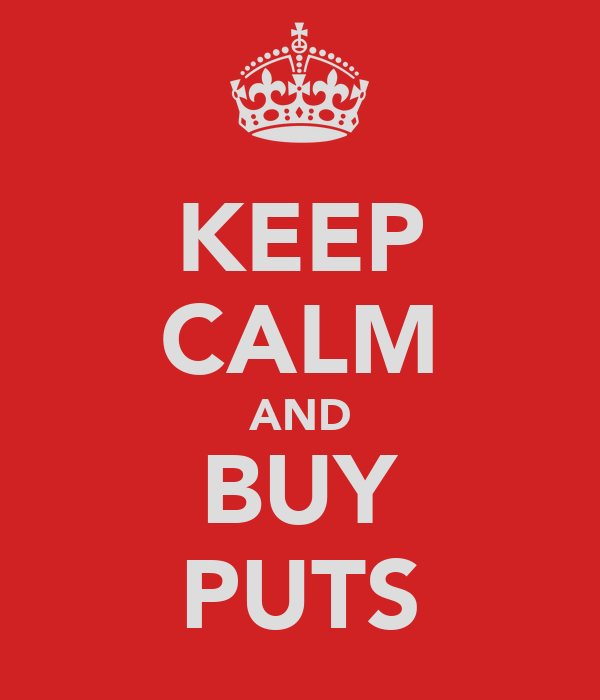 KEEP CALM AND BUY PUTS