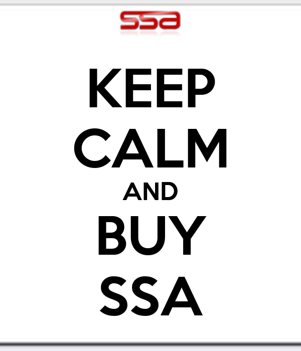 KEEP CALM AND BUY SSA