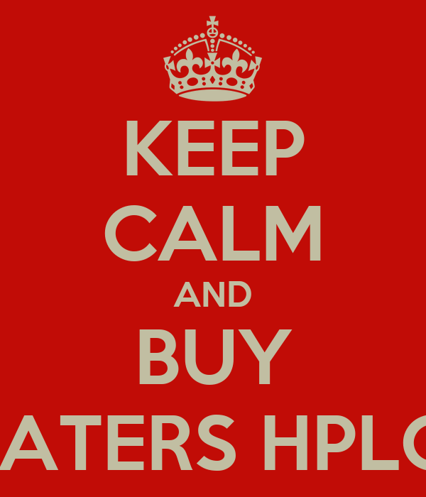 KEEP CALM AND BUY WATERS HPLC's