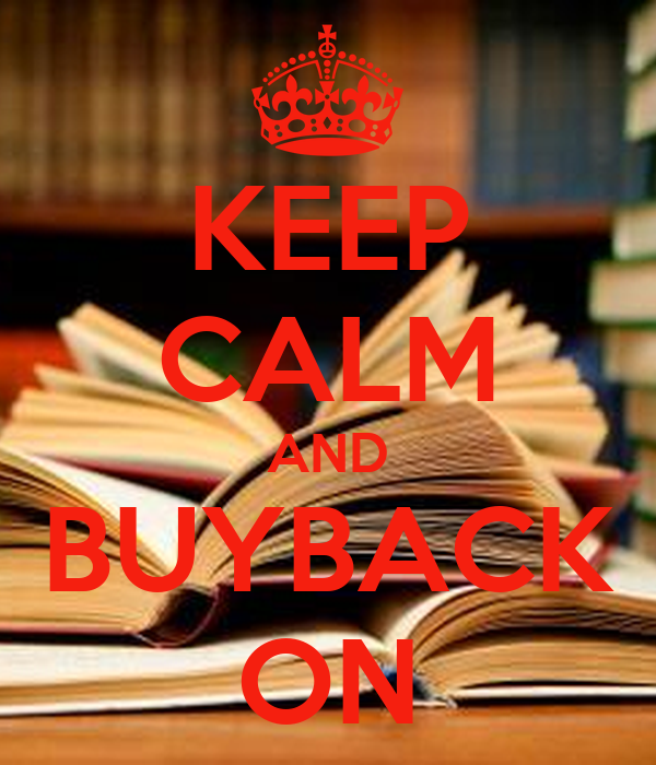 KEEP CALM AND BUYBACK ON