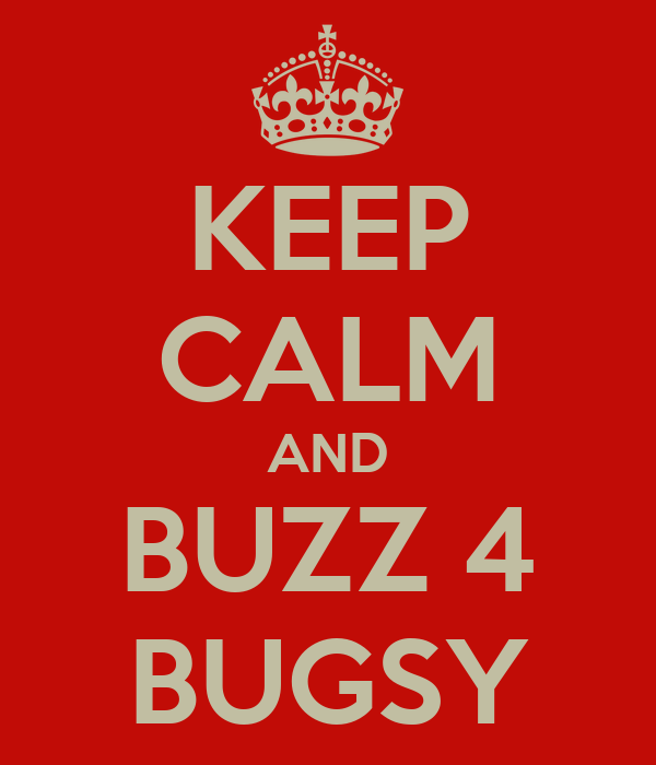 KEEP CALM AND BUZZ 4 BUGSY