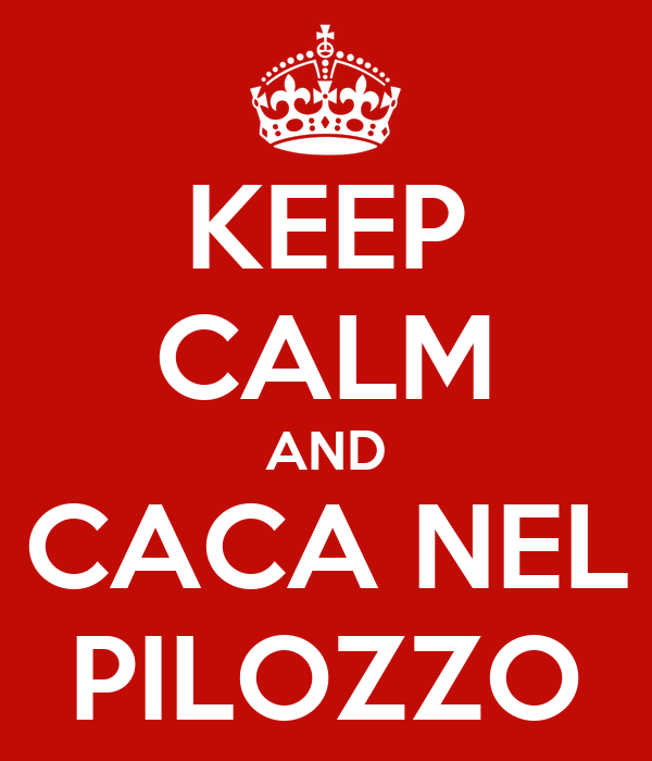 KEEP CALM AND CACA NEL PILOZZO