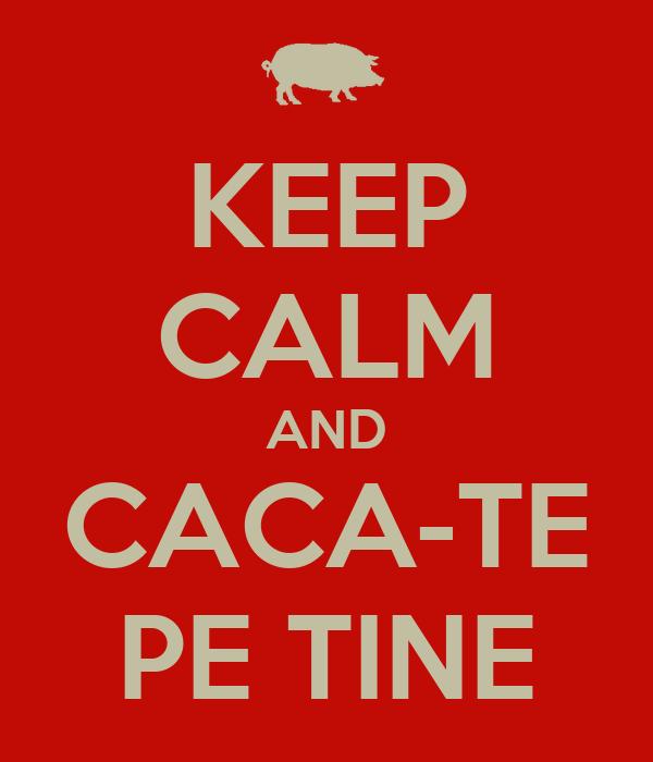 KEEP CALM AND CACA-TE PE TINE