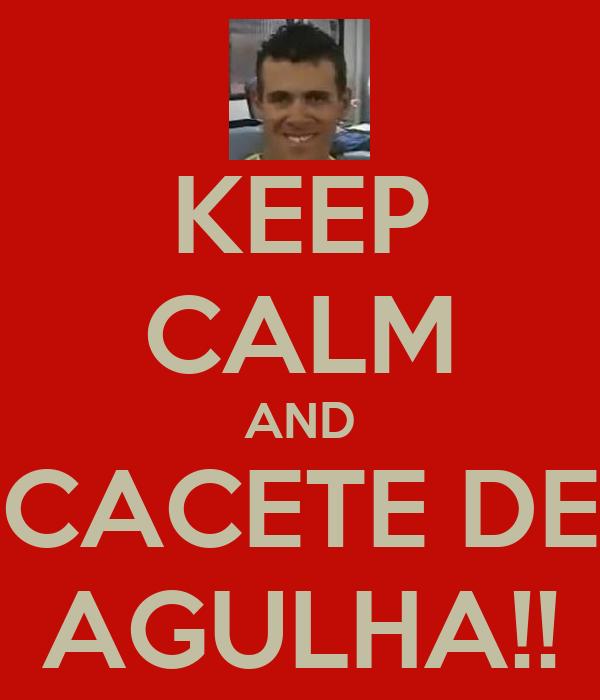 KEEP CALM AND CACETE DE AGULHA!!