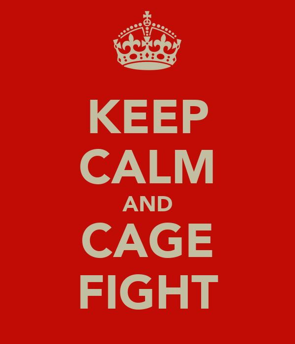 KEEP CALM AND CAGE FIGHT