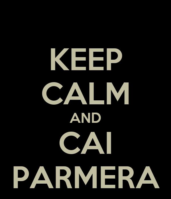 KEEP CALM AND CAI PARMERA