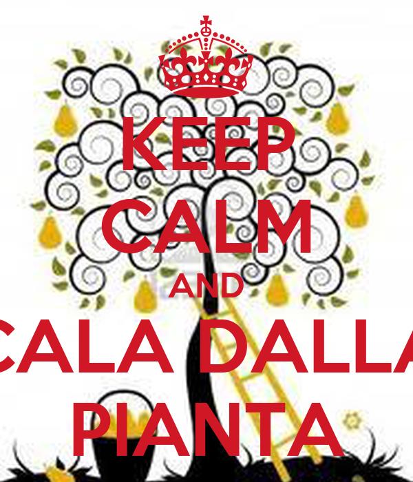 KEEP CALM AND CALA DALLA PIANTA
