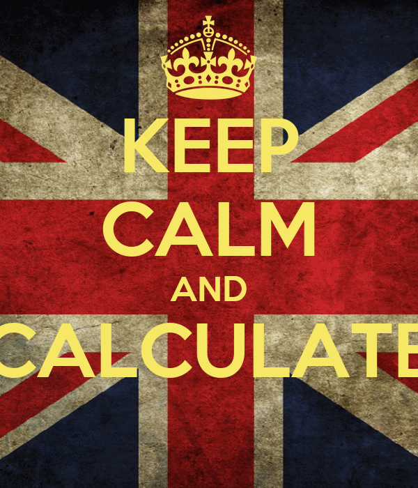 KEEP CALM AND CALCULATE