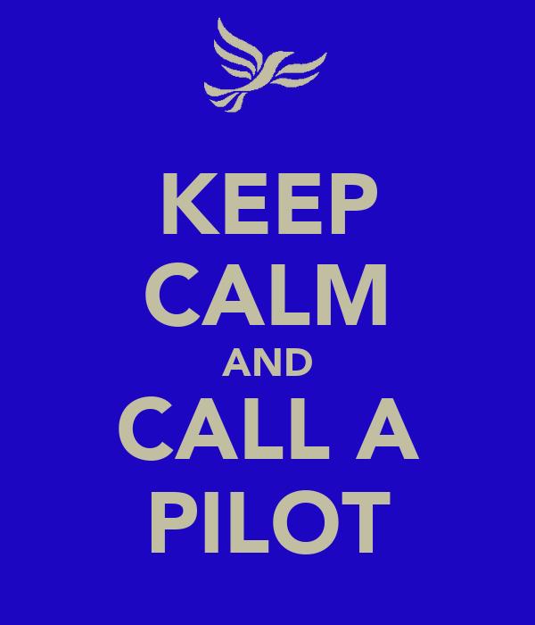 KEEP CALM AND CALL A PILOT