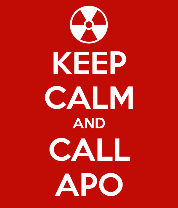 KEEP CALM AND CALL APO