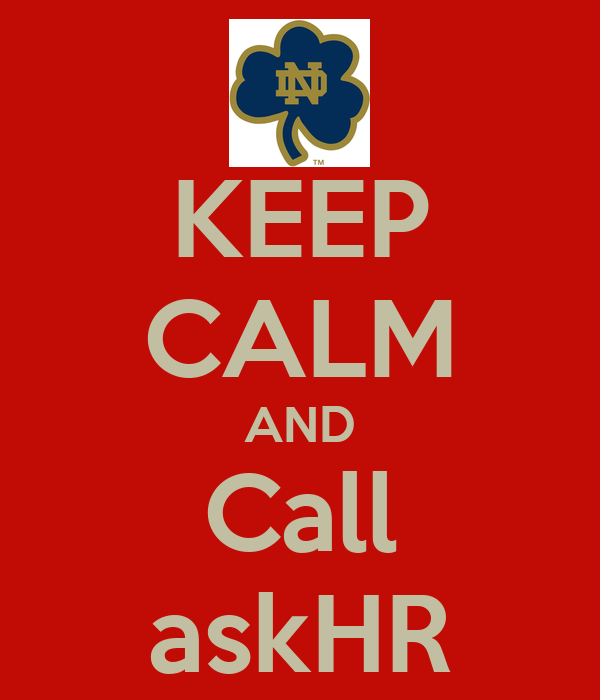 KEEP CALM AND Call askHR