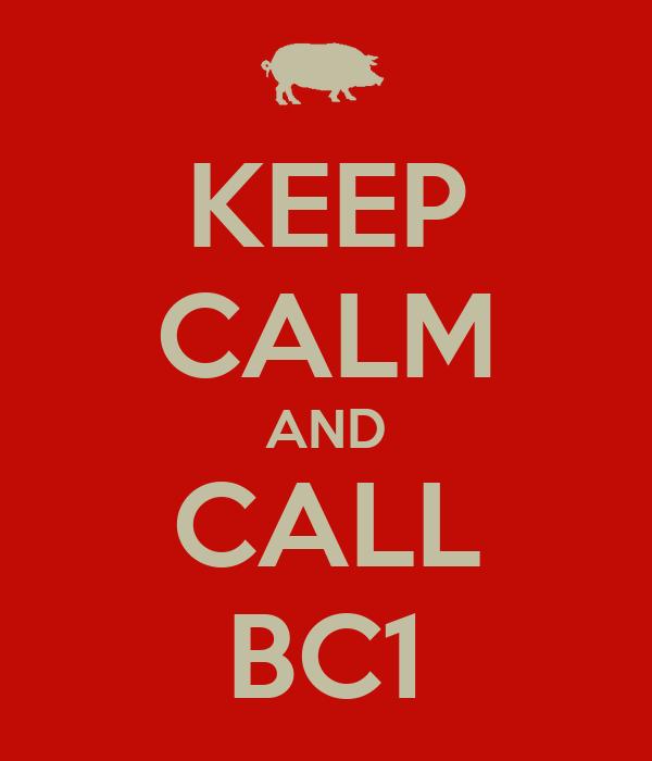 KEEP CALM AND CALL BC1