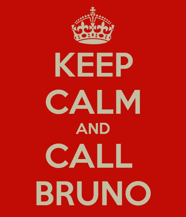 KEEP CALM AND CALL  BRUNO