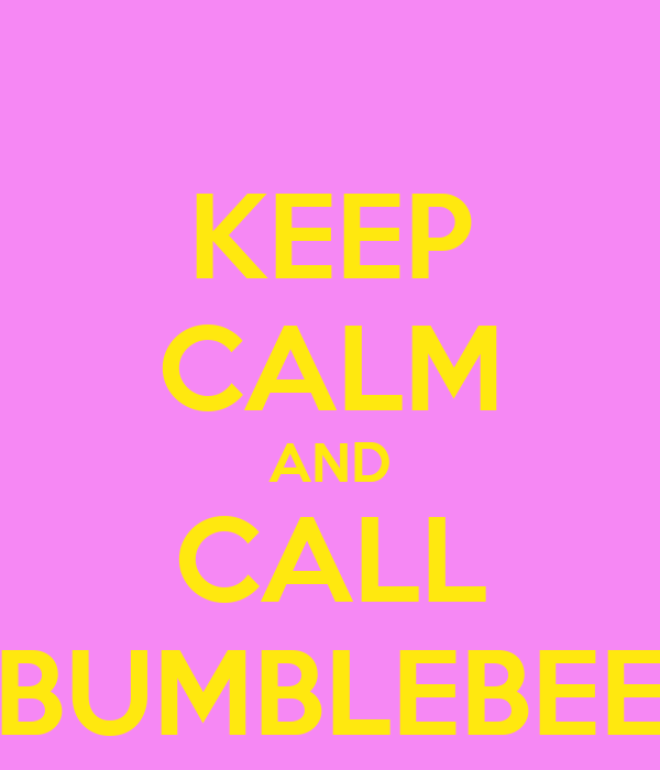 KEEP CALM AND CALL BUMBLEBEE