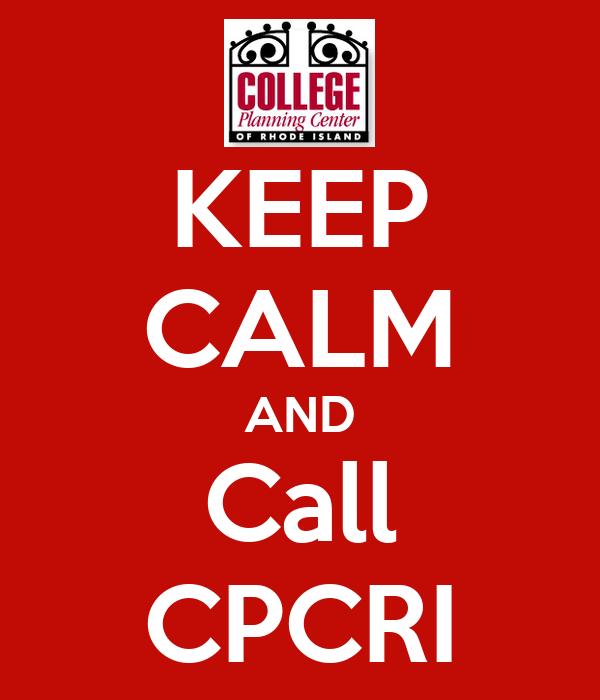 KEEP CALM AND Call CPCRI