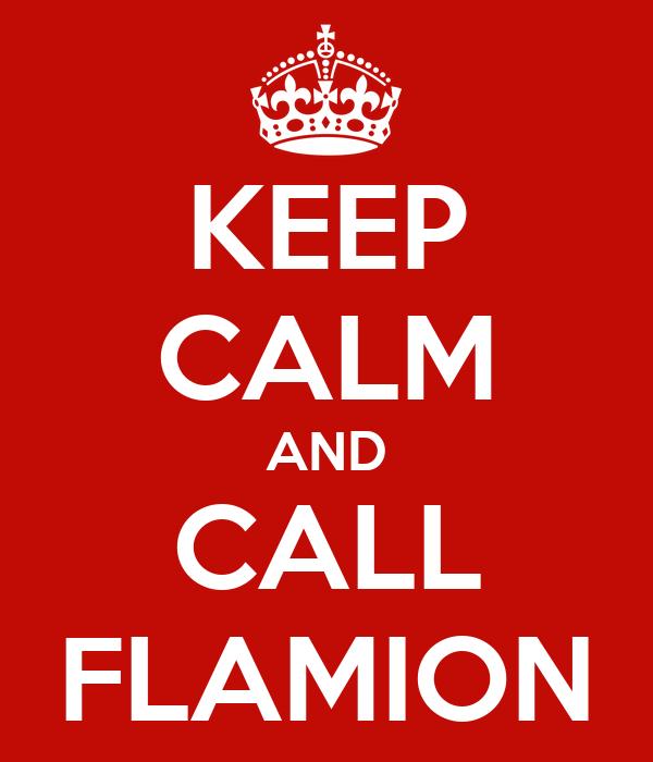 KEEP CALM AND CALL FLAMION