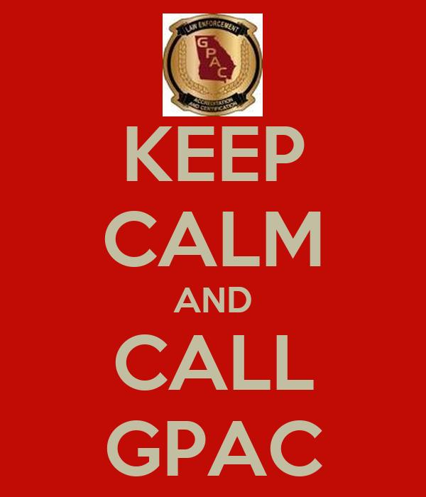 KEEP CALM AND CALL GPAC