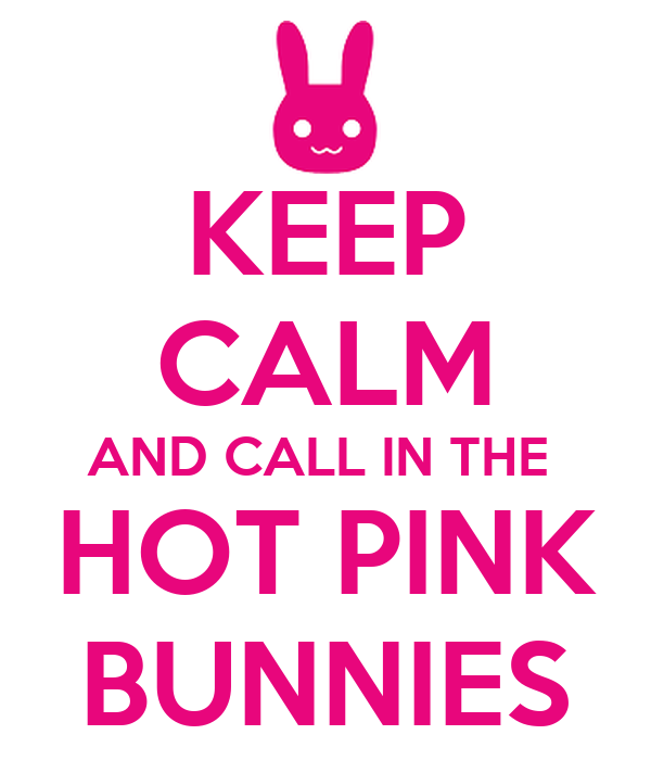 KEEP CALM AND CALL IN THE  HOT PINK BUNNIES