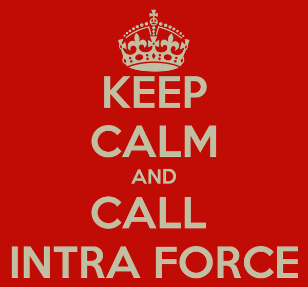 KEEP CALM AND CALL  INTRA FORCE