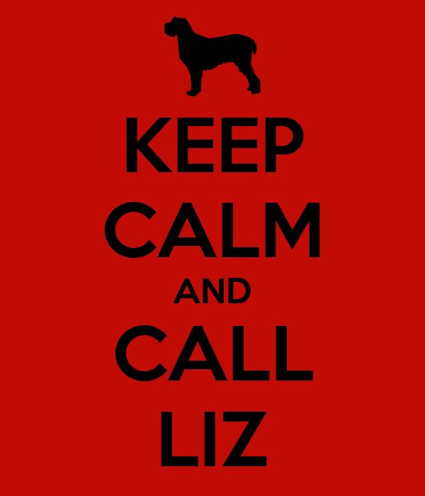 KEEP CALM AND CALL LIZ