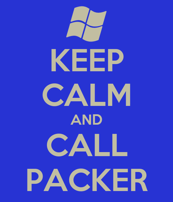 KEEP CALM AND CALL PACKER