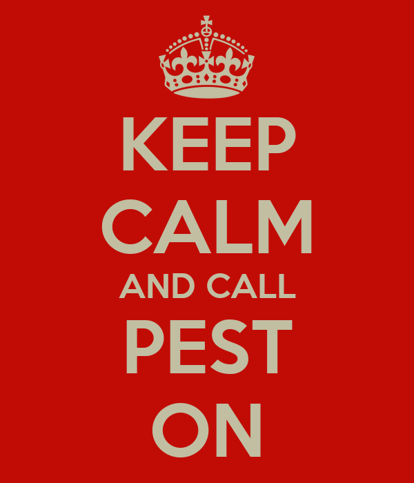 KEEP CALM AND CALL PEST ON