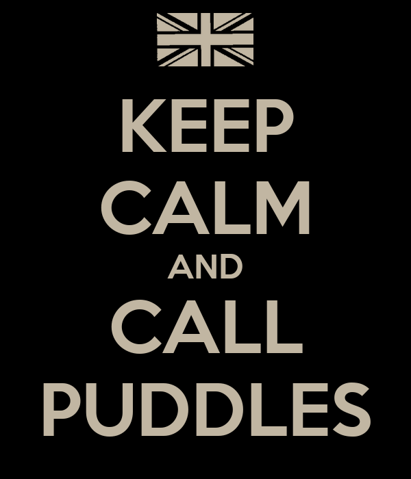 KEEP CALM AND CALL PUDDLES