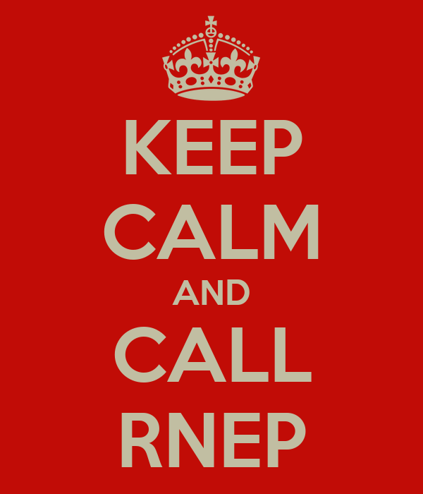 KEEP CALM AND CALL RNEP