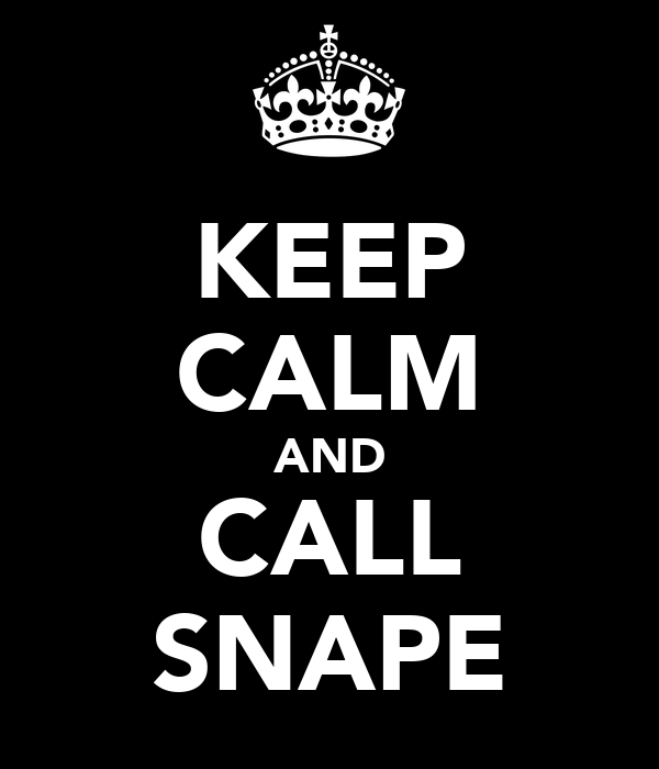 KEEP CALM AND CALL SNAPE