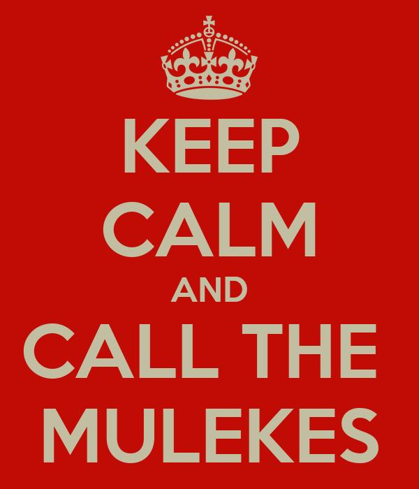 KEEP CALM AND CALL THE  MULEKES