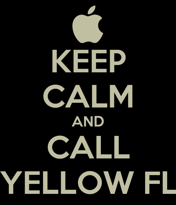 KEEP CALM AND CALL THE YELLOW FLASH