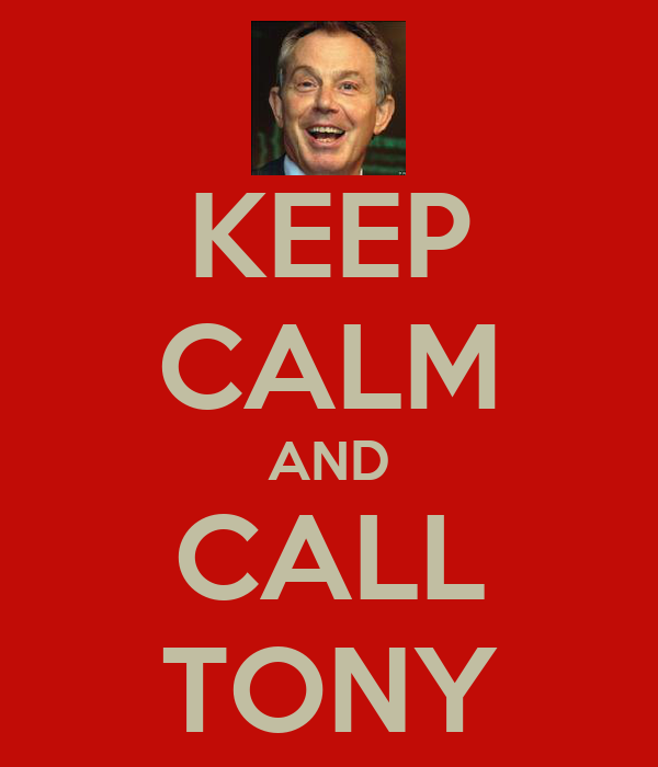 KEEP CALM AND CALL TONY