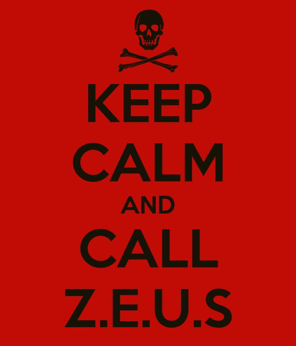KEEP CALM AND CALL Z.E.U.S