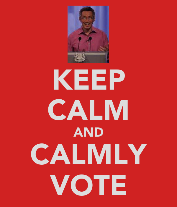 KEEP CALM AND CALMLY VOTE