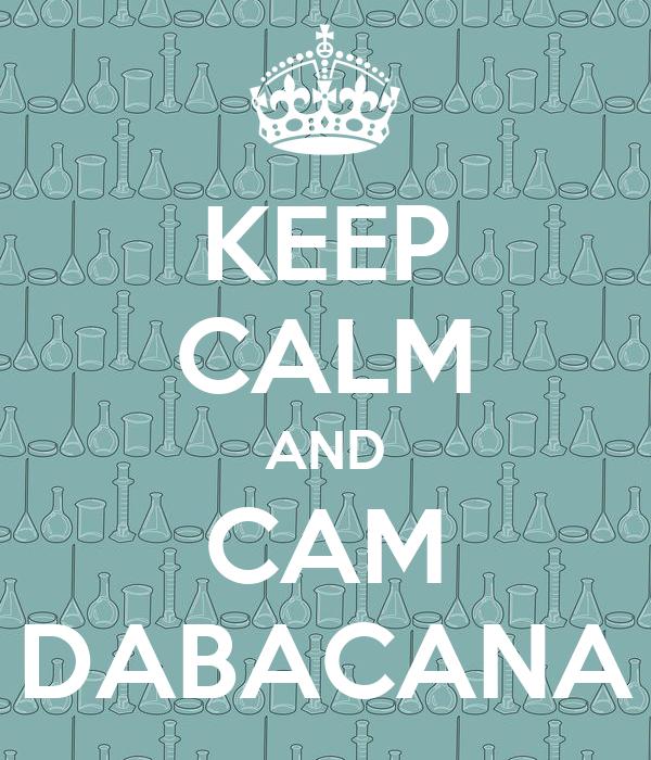 KEEP CALM AND CAM DABACANA