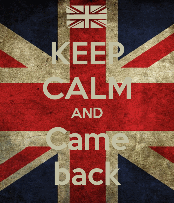 KEEP CALM AND Came back